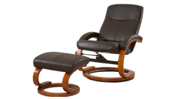Angelo Swivel Chair Brown