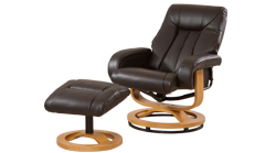 Arizona swivel chair brown