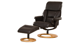 Casares swivel chair brown