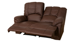 Catalonia 2 seat reclining sofa brown