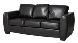 Loreto 3 seater black