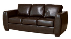Loreto 3 seater brown