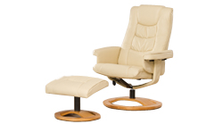 Palmares swivel non massage chair cream
