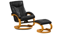 Montpellier swivel massage chair black