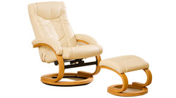 Montpellier swivel massage chair cream