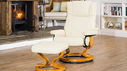 Nevada swivel massage chair cream