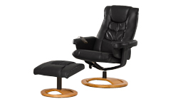 Palmares swivel massage chair black