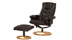 Palmares swivel massage chair brown
