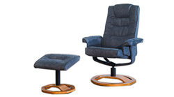 Palmares fabric swivel massage chair black