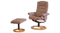 Palmares fabric swivel massage chair cream