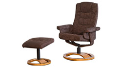 Palmares fabric swivel massage chair brown