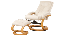 Sandino Swivel Massage Chair Cream