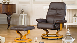 Santino swivel chair brown
