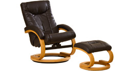 Sorbito swivel massage chair brown