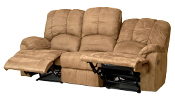 Valente 3 seat medium brown